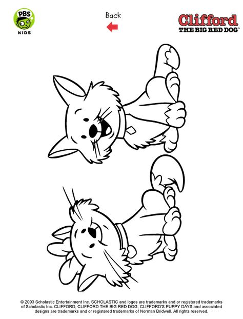 Clifford . Printables . Puppy Coloring Pages | PBS Kids ...