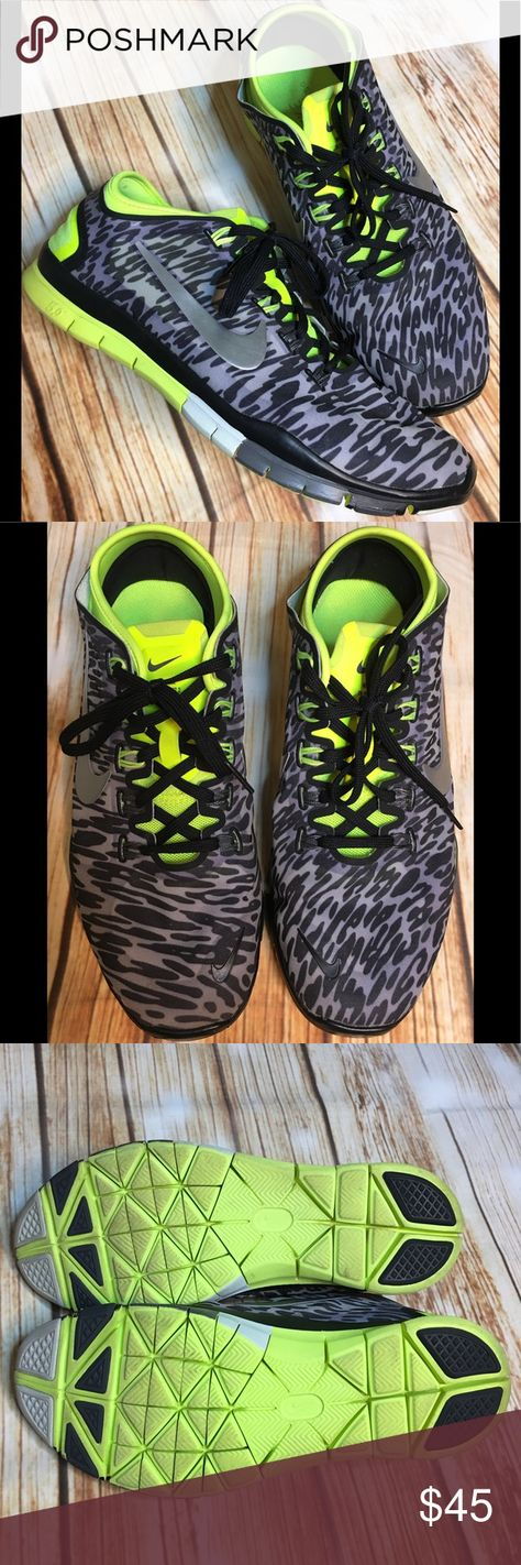 05aaed0305f5 Nike FREE 5 TR Connect 2 Running Cheetah Print Nike FREE 5 TR Connect 2  Running Shoes Cheetah Animal Print Glow in the dark neon accents