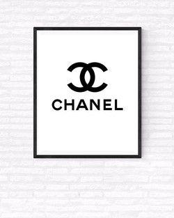 Printable Chanel Logos Chanel Printable Chanel Wall Art Chanel Logo
