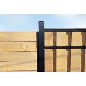 3 In X 3 In X 8 Ft Black Powder Coated Aluminum Fence Post Includes Post Cap Aluminum Fence Wood Fence Metal Fence Posts