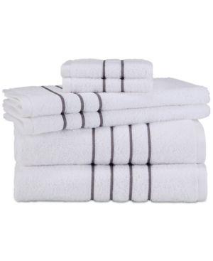 Grand Patrician Hotel Suite Cotton 6 Pc Towel Set Gray Towel