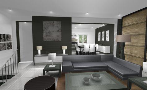 Jolie decoration interieur salon cuisine | Decoration ...