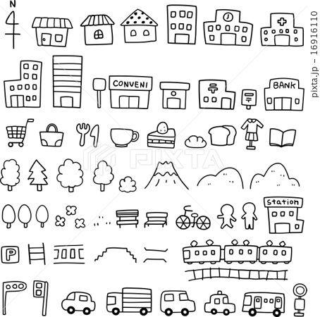 手描きの地図素材のイラスト素材 No 16916110 写真素材 イラスト