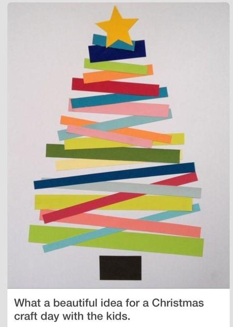 Weihnachtsbaum aus Papierstreifen