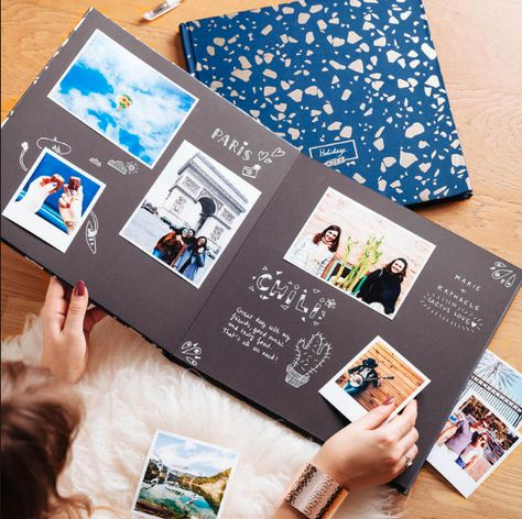 Perfect customizable book comes with black pages, white marker and your printed photos!!! #notsponsored