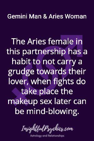 Aries woman and gemini man relationship