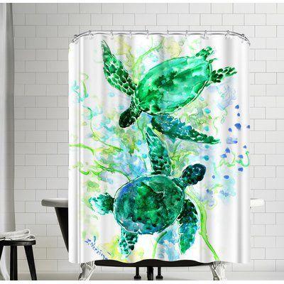 East Urban Home Suren Nersisyan Sea World Turtles Single Shower Curtain Money Bouquet Shower Curtain Shower