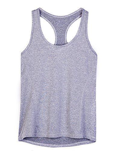 Femmes Fitness Vest Top Sport Yoga D/ébardeurs T-Shirt