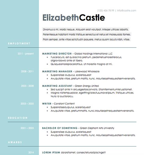 Ardent - Free Resume Template by Hloom Infographic  Visual