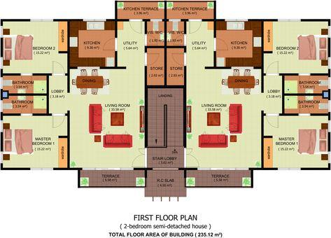 Semi Detached House Plan Modern Plans 2 Bedroom Pdf Ghana Soiaya One Bedroom House Plans Semi Detached One Bedroom House