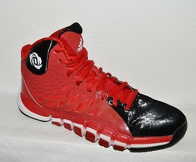 Adidas Mens 8 M 41 5 Red Black Derrick Rose Shoes Sneakers High Tops Shoes Mens Shoes