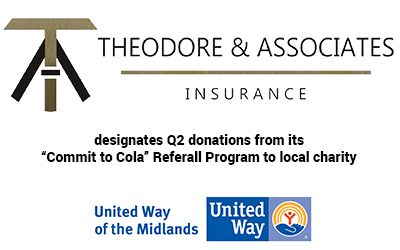 Theodore Associates Insurance Choose United Way Of The Midlands As Its Commit To Cola Charity Of The Quarter Who S On Th United Way The Unit Human Services