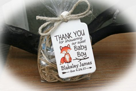 Fox Baby Shower Favor Woodlands Baby Shower Favor Kit Baby | Etsy