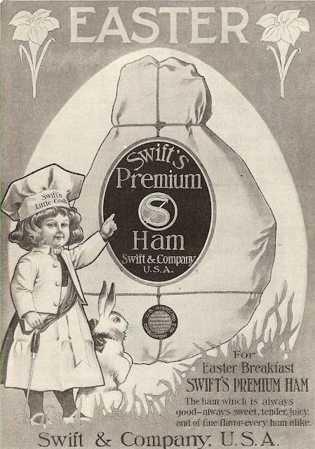 This advertisement for Swift's Premium Ham came from a 1908 McClure's magazine.