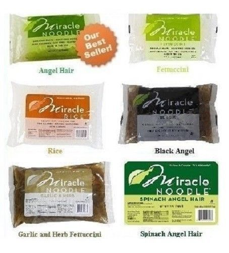 5 Packs Miracle Noodle Angel Hair Fettuccini And Or Rice Fast