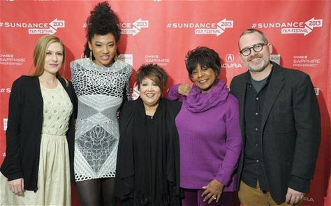 Left to right: producer Caitrin Rogers, singers Judith Hill, Tata Vega and Merry Clayton and director Morgan Neville attend the Twenty Feet From Stardom premiere during the 2013 Sundance Film Festival at Eccles Center Theatre on January 17, 2013 in Park City, Utah.