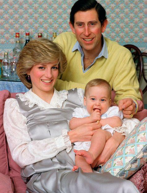 Prince William- Lady Diana - Prince Charles