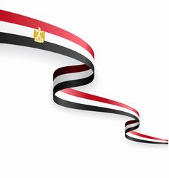 Egypt Flag On White Background Royalty Free Vector Image Egyptian Flag Egyptian Abstract Backgrounds