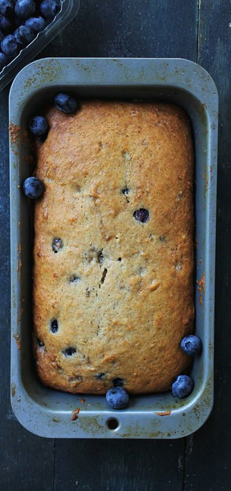 Blueberry Banana Bread is the perfect breakfast snack to serve with your morning coffee or tea.