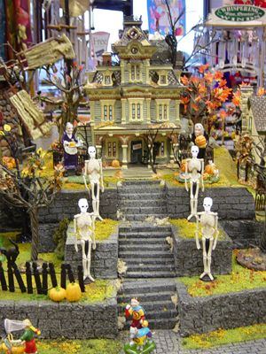 D56 Halloween Village Display Halloween Pinterest Halloween - christmas town decorations