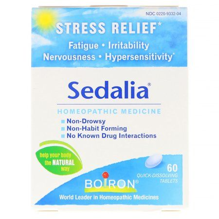 Boiron Sedalia 60 Tablets Homeopathic Medicine For Stress Relief Walmart Com Homeopathic Medicine Stress Relief Stress Fatigue