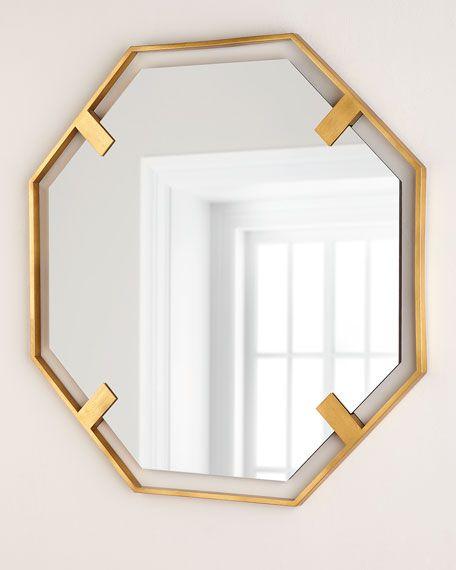 Octagon Mirror Gold Octagon Mirror Mirror Minimalist Wall Decor
