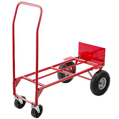 Ad Ebay Url Hand Truck Convertible Dolly 200lb 300lb With 10inch Pneumaticwheels In Red In 2020 With Images Hand Trucks Ebay Trucks