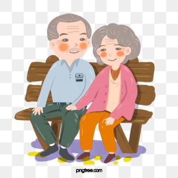 Grey Hair Elderly Couple Bench Gray Hair The Elderly Png Transparent Clipart Image And Psd File For Free Download Character Design Character Design Disney Cute Characters