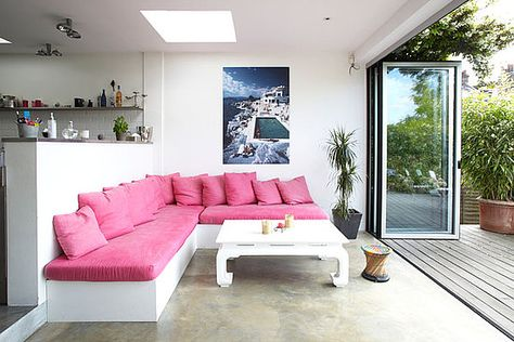 Garden room living area | Extensions, Living rooms and Modern