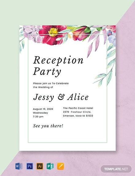 Floral Wedding Reception Program Template Illustrator Word Apple Pages Psd Publisher Template Net Wedding Program Template Free Wedding Reception Program Wedding Programs Template