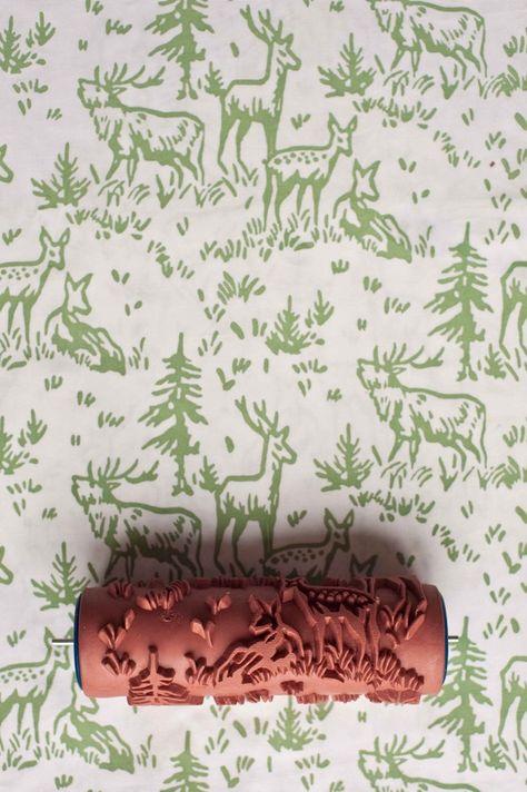 Deer Patterned Paint Roller