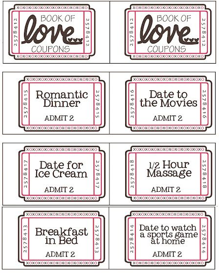 Free Printable Valentine Coupon Booklet Free printable - printable coupon templates free