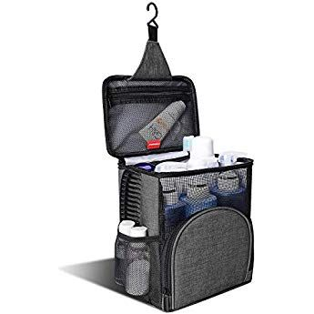Kusoofa Shower Caddy Tote Bag Mesh Shower Bag Hanging Toiletry Bag With Quick Dry Technology And Mildew Resista Shower Caddy Hanging Toiletry Bag Toiletry Bag