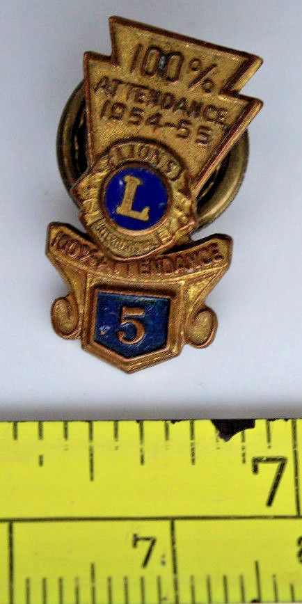 vintage Lions Attendance pins