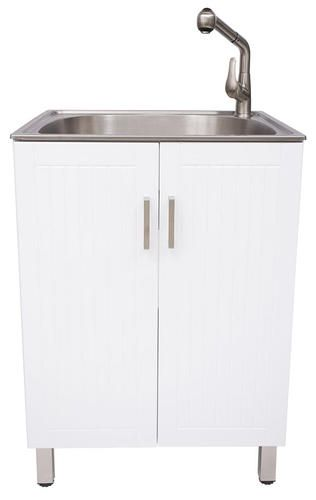 Laundry Cabinet Abs Sink Stainless Steel At Menards Laundry
