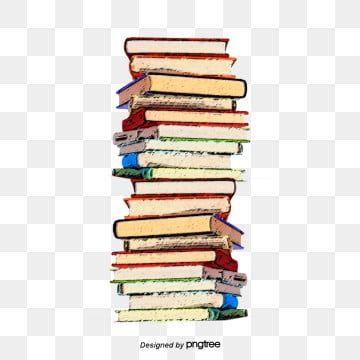 كومة من الكتب كتاب كرتون مرسومة باليد كتب Png وملف Psd للتحميل مجانا Pile Of Books Books
