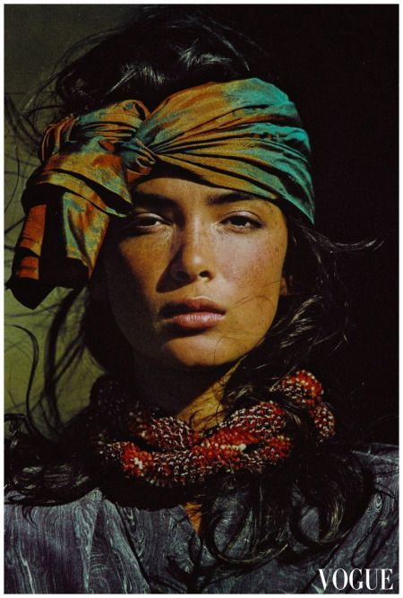 Hans Feurer Vogue US 1985 - Model Linda Spearing