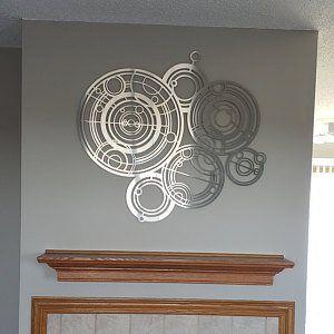 Xl Om Lotus Flower Metal Wall Art Extra Large Metal Wall