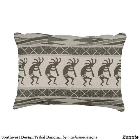 Dancing Kokopelli Decorative Pillow
