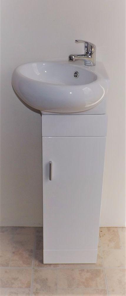 Details About Bathroom Vanity Cabinet Grey Basin Sink Corner Floor