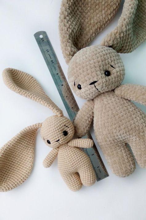Pdf Pattern Crochet Toy Cute Bunny Long Ears Amigurumi Pattern