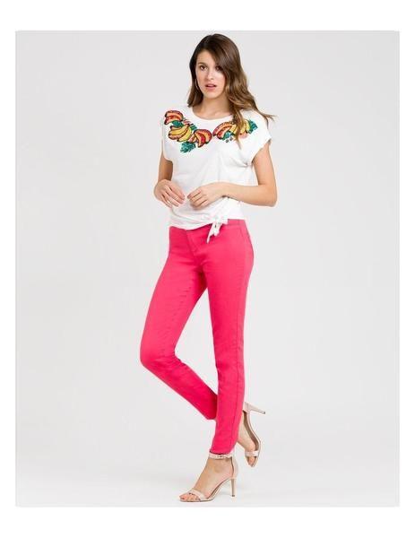 Pantalon Naf Naf Power Skinny Rosa Para Mujer Pantalones Naf Naf Pantalones Mujer Skinny