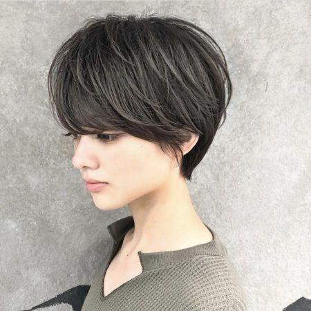 ショート ショートボブ 髪の量が多い人におすすめヘアスタイル 髪型