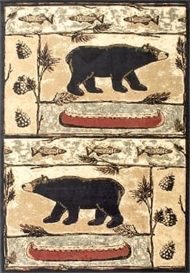 Rugs Usa Multi Yosemite Ys01 Bears In