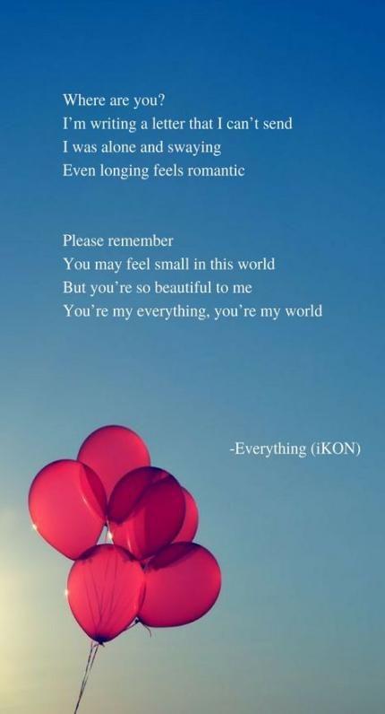 23 Ideas For Quotes Lyrics Kpop Ikon #quotes   Inspiration