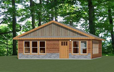 28x40 House 2 Bedroom 2 Bath Pdf Floor Plan 1 120 Sq Ft Model 1a 29 99 Picclick Floor Plans Small House Plans House Plans