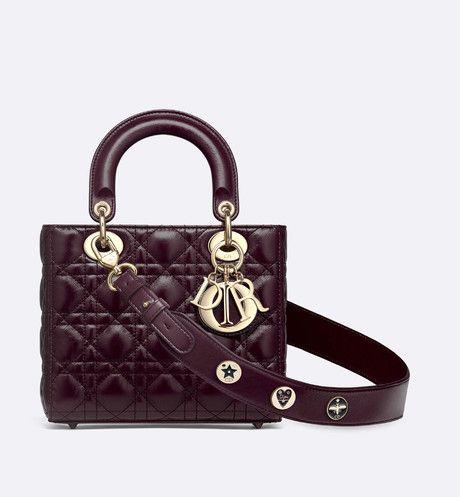 a96940adb3 My Lady Dior calfskin bag Burgundy aria_frontView | Bags List in ...