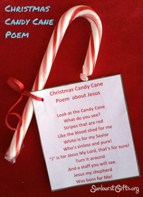 Jesus Candy Cane Poem | A Great Gift for the Elderly: Spread the joy of Christmas by giving a basket full of candy canes. Attach the Jesus Candy Cane Poem to each one. Assisted living centers and nursing homes can be lonely places for the people who live there. Gifts like this one that can be shared with others work their magic in a different way. Not only is the person happy to receive the gift, but the giver also gets happier and happier each time they share the gift with someone else!