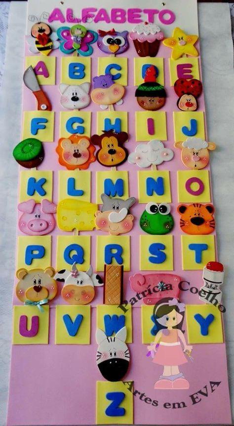 Alfabeto Educacao Infantil Com Imagens Arte Educacao