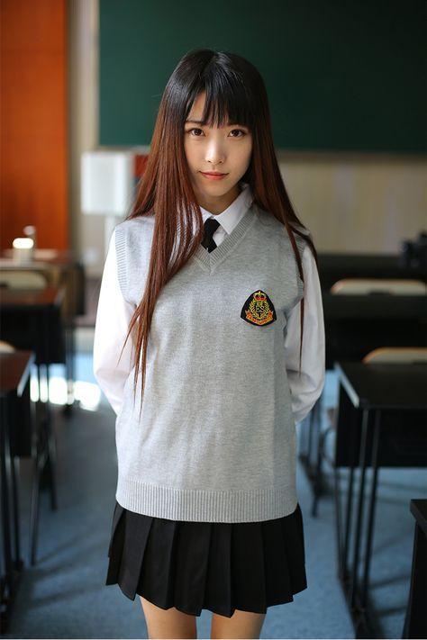 純色女針織開衫長版套頭修身休閒學院風簡約時尚毛衣v領針織 34923
